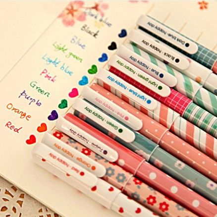 10 pcs/lot 10 colors New Cute Cartoon Colorful Gel Pen Set Kawaii Korean Stationery Gift Free shipping 050 $6.85