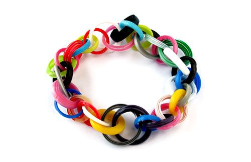 Jun Konishi  Bracelet: Plastic Circle 2013  Plastic