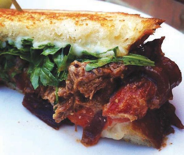 sandwich with balsamic caramelized onions asiago cheese and arugula ...