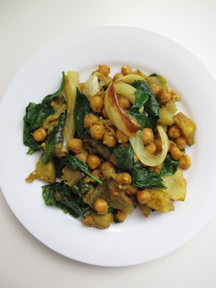 Curried Eggplant w/Checkpeas and spinach | mmm...food stuf... | Pinte ...