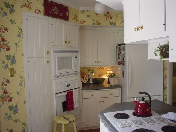 Cottage Kitchen Wallpaper Cozy Cottage Pinterest
