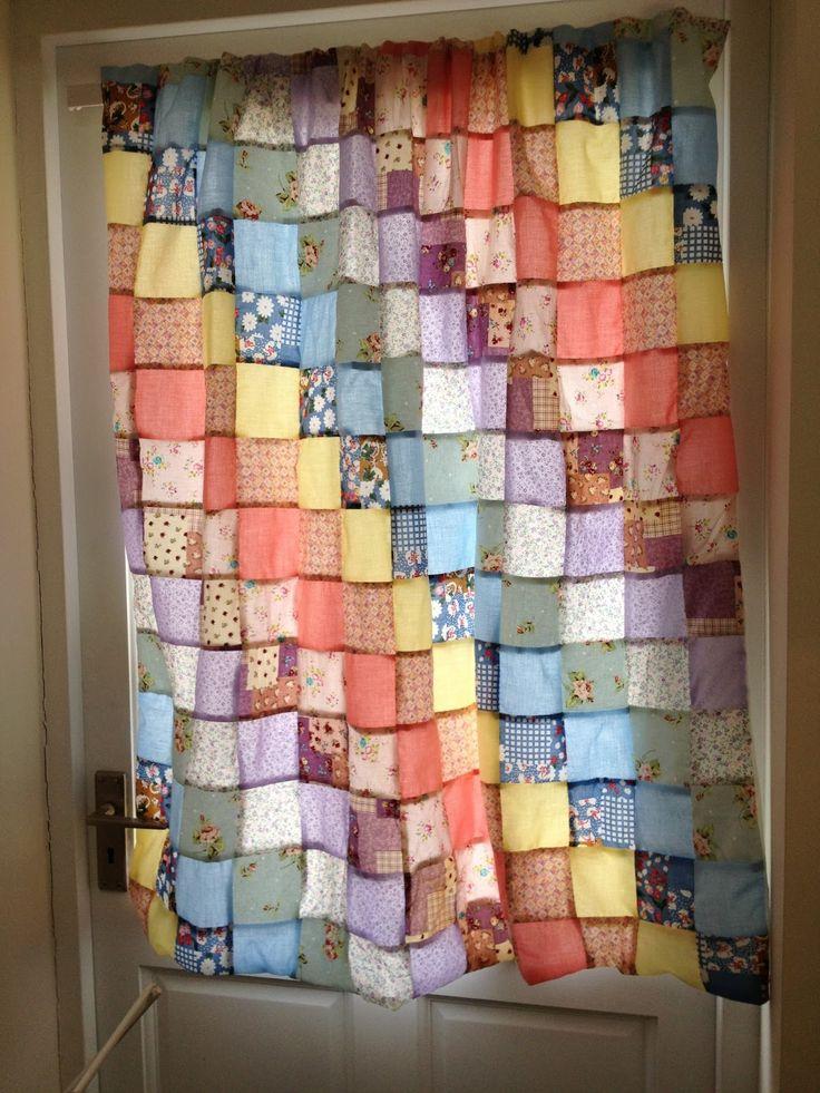 Cortina patchwork office pinterest - Como confeccionar cortinas ...