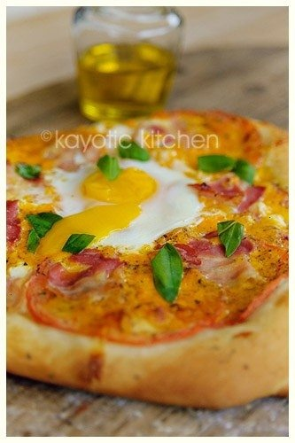 Sunny side up pizza | Yummy Food! | Pinterest