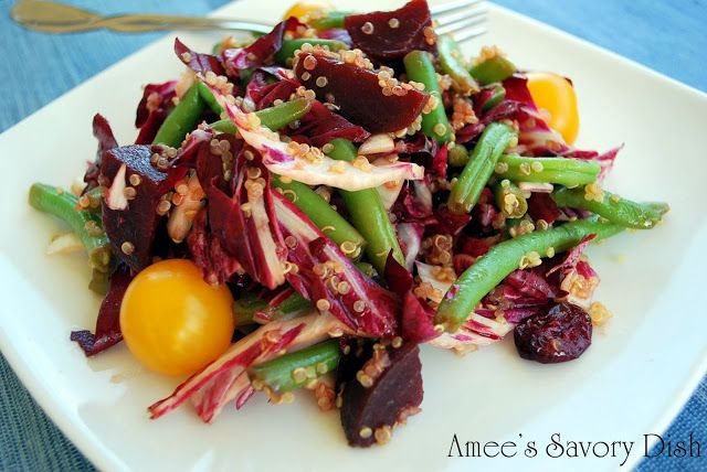 Savory Dish: Marinated Bean and Beet Salad with Quinoa and Golden ...