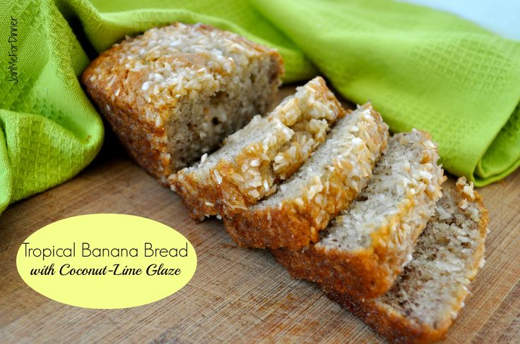 Tropical Banana Bread with Coconut and Lime Glaze