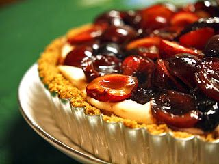 Cherry Amaretto Tart with Shortbread Crust recipe ~ Someplace That's ...