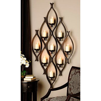 Candle Wall Sconces At Kirklands : 9-Pillar Candle Holder Kirkland s Ideas for the House Pinterest