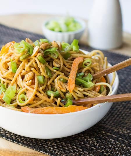Pasta Recipes : Peanut Sesame Noodles | Lunch/Dinner | Pinterest