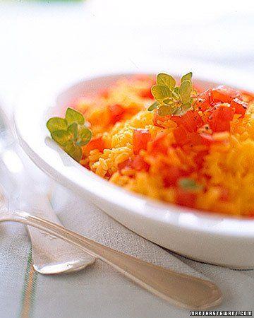 Saffron Rice with Tomatoes and Fresh Oregano   Recipe