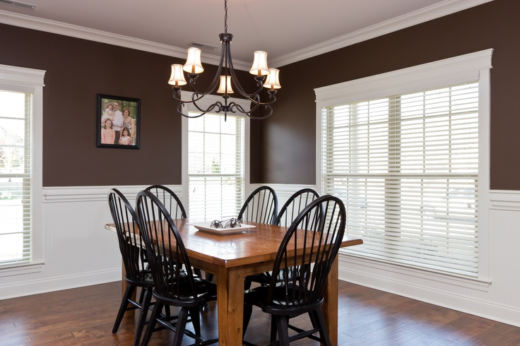 dining room with custom wainscoting for the home pinterest