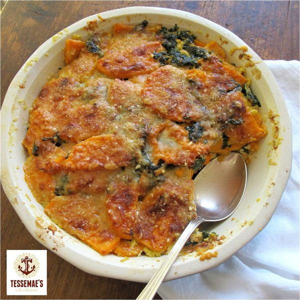 KALE AND SWEET POTATO GRATIN | Veg/sides | Pinterest