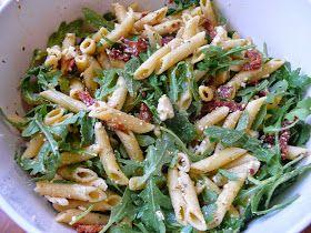 Imperfect & Fabulous: Arugula, Sun Dried Tomato, & Feta Pasta Salad