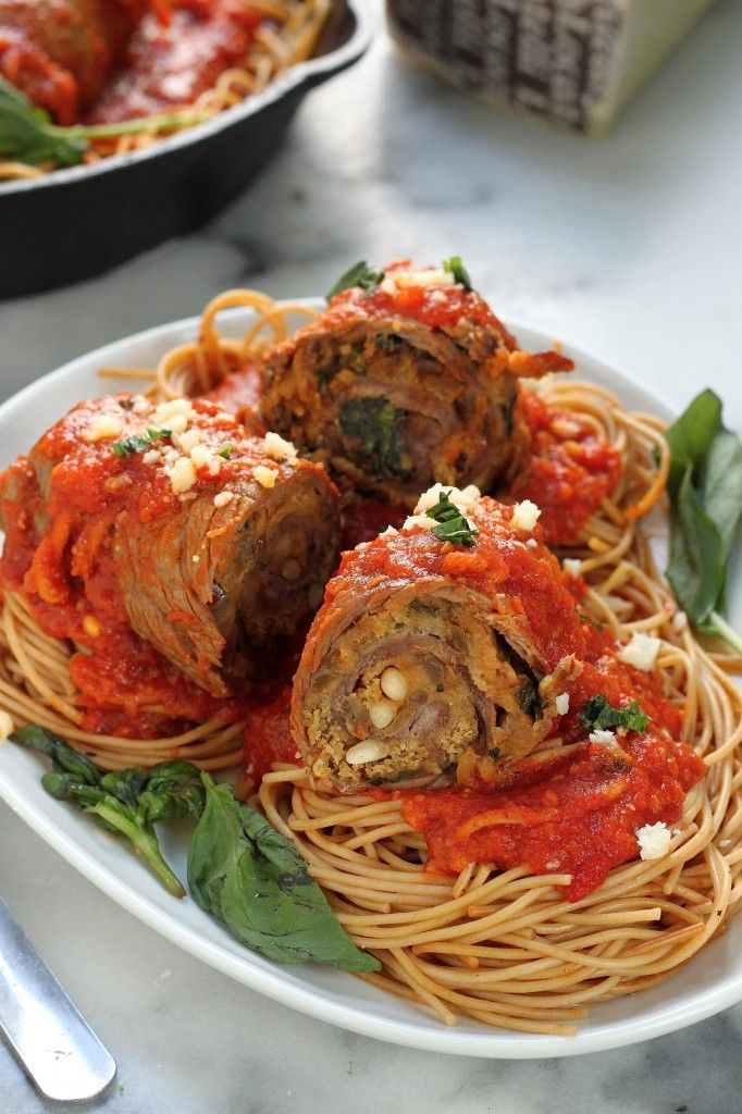 Sicilian Braciole - Thin sheets of flank steak stuffed with cheese ...