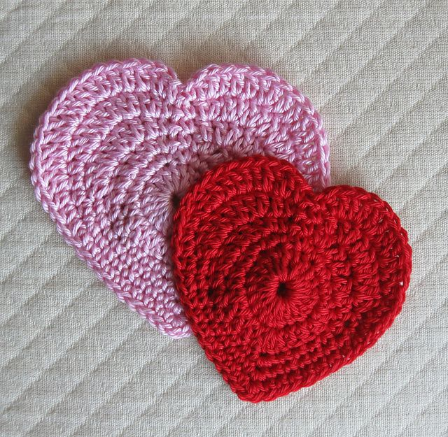 Crochet Heart : Simple Hearts: free pattern Crochet Pinterest