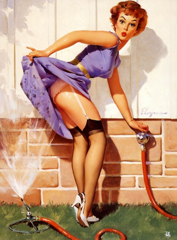 Sassy and Superb - Gil Elvgren Pin-up