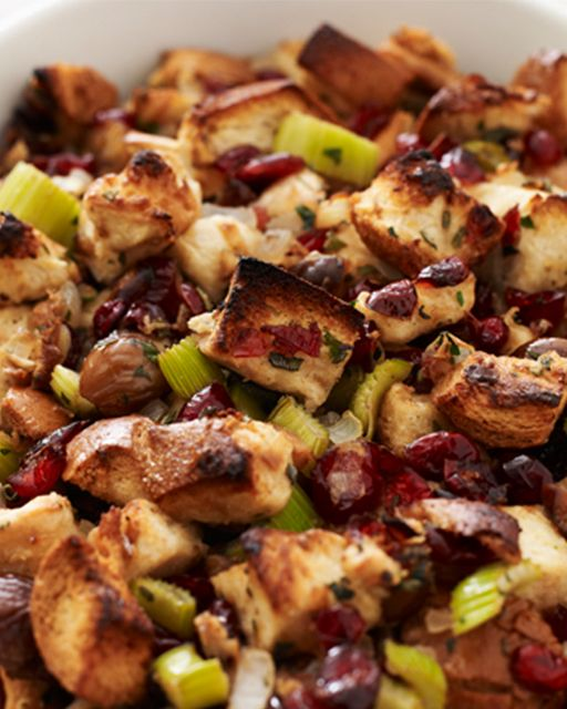 Sweet Paul: Thanksgivukkah Day 1: Challah Stuffing with Cranberries & Chestnuts Recipe