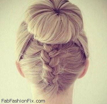 Dutch braid donut bun.