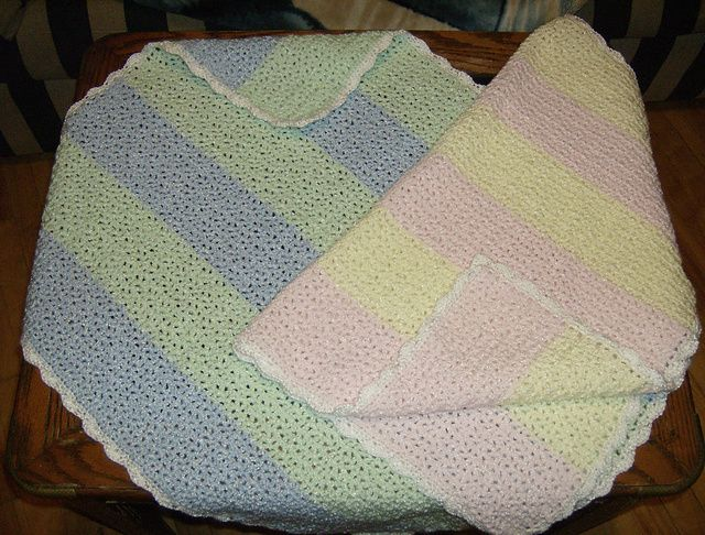Ravelry: V-Stitch Baby Blanket pattern by Sandi Marshall