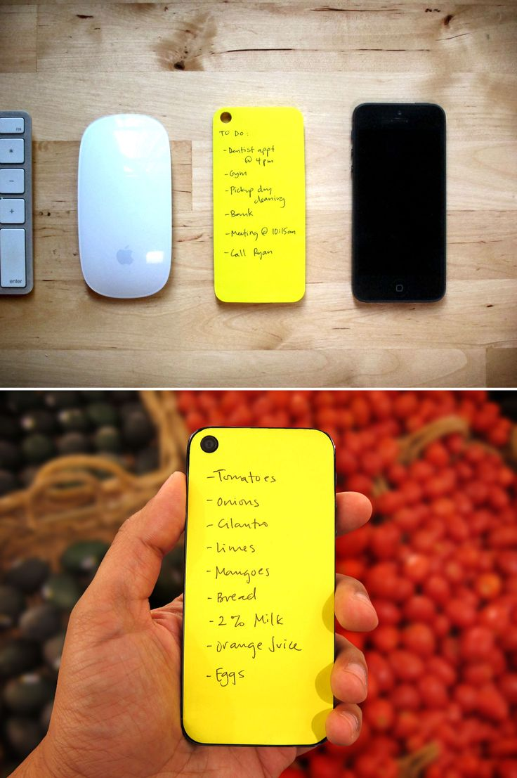 I actually stick post-it notes to the back of my phone pretty frequently, so this is kind of awesome...Adhesive notes for iPhone. We know what you're thinking -- there are apps for that. Well, it's still easier to jot something down on a sticky note, and more satisfying to cross off an item with real ink. With Paperback, you can do a quick sketch or make a list the old-fashioned way, and slap it on the back of your phone.
