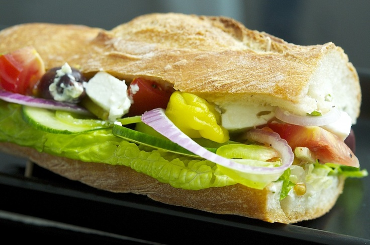 Greek Salad Sandwich | Cooking with Children | Pinterest