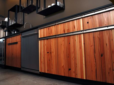 Reclaimed Wood Cabinets Kitchen Ideas Pinterest