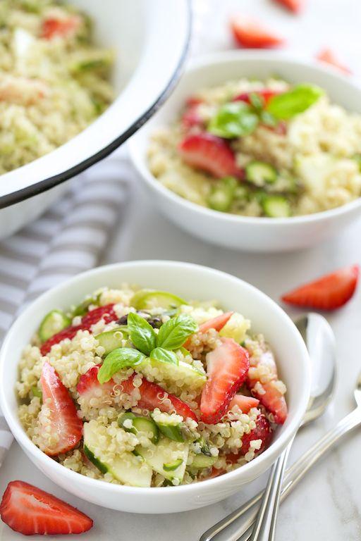 Strawberry Asparagus Quinoa Salad with Basil (Avocado oil) Vinaigrette ...