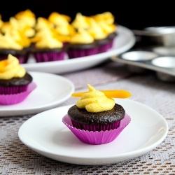mango chocolate cupcakes.