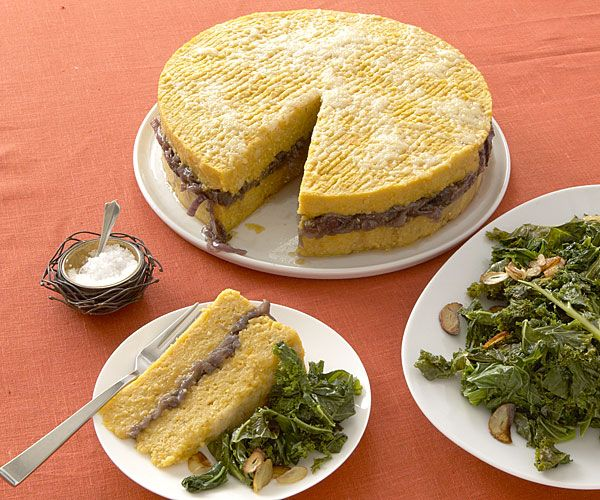 Roasted Squash and Polenta Torta with Red Onion Marmalade | Recipe