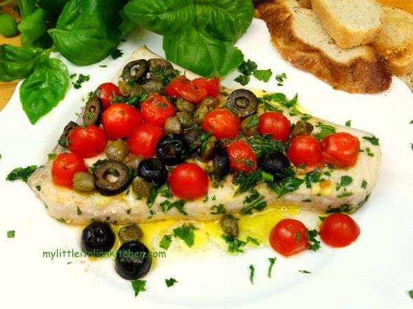 Mediterranean Stuffed Swordfish Recipe — Dishmaps