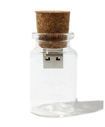 USB message in a bottle.