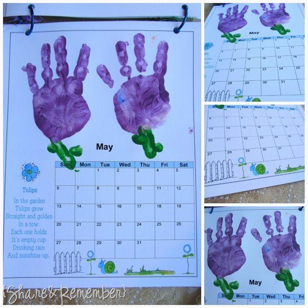 Calendar Handprint Art : Handprint calendars crafts and activities pinterest
