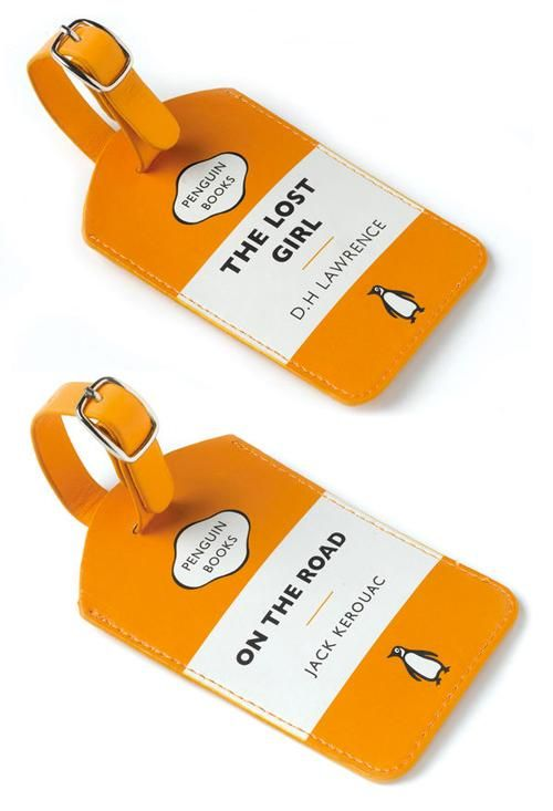 Darling luggage tags from Penguin for the book lover