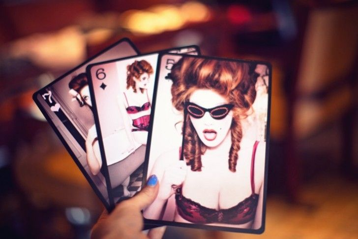 Chantal Thomass lingerie playing cards