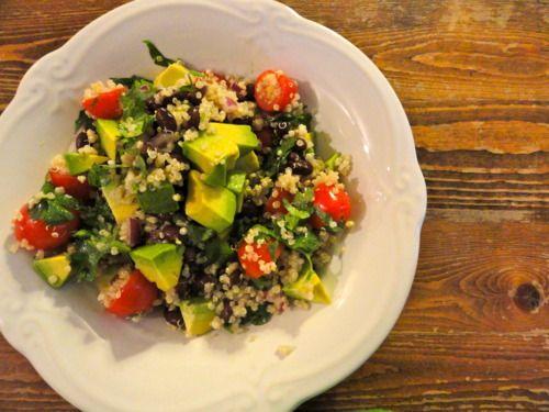 Black Bean Avocado Quinoa Salad.