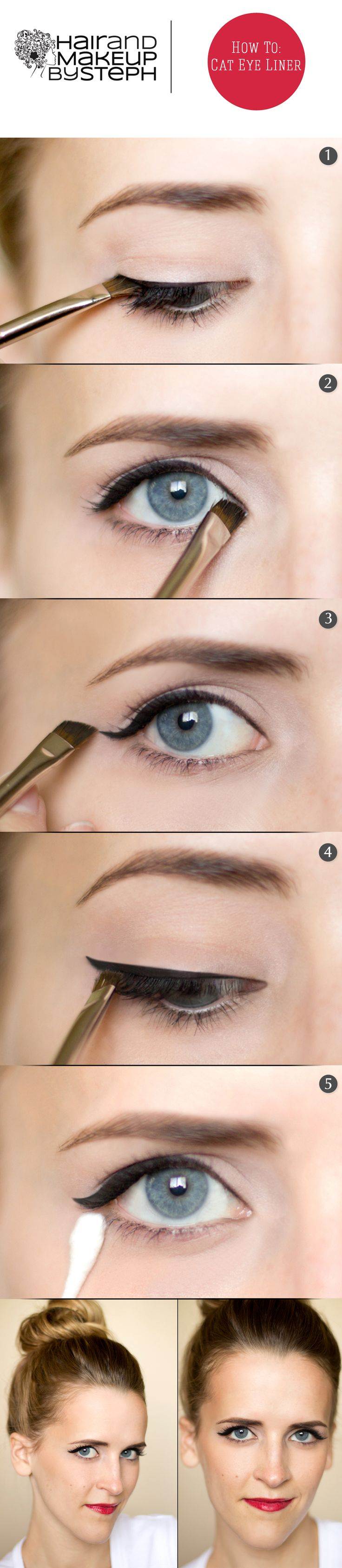 We love Top Pinner Stephanie B.'s Subtle Cat Eye HOW TO. Try using #Sephora Collection PRO Angled Eyeliner Brush #15.  #GettheLook #Cateye @Stephanie Brinkerhoff