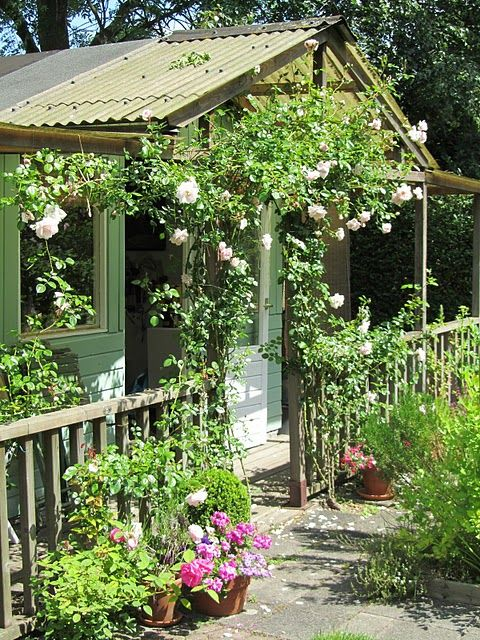 Garden cottage cool cottages pinterest - Cottage garden shed pictures ...