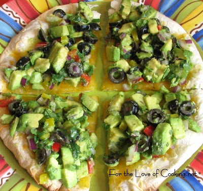 For the love of cooking avocado and olive quesadillas