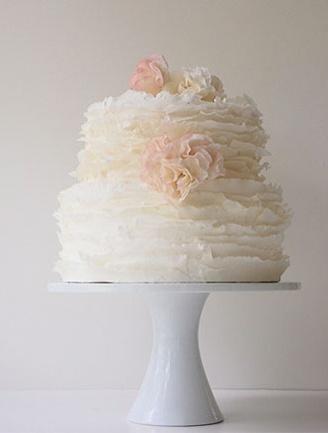 Simple White Wedding Cake | Bake Me | Pinterest
