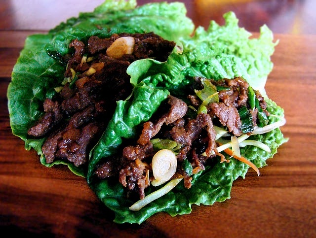 Sweet & Spicy Beef lettuce Wraps...made several times now...also good ...