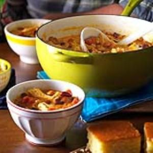Southwest Shredded Chicken 3 Bean Chili Recipes — Dishmaps