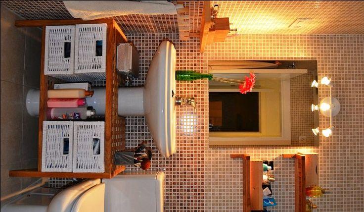 decorar mueble lavabo : decorar mueble lavabo:hacer un mueble para debajo del lavabo con un banco de madera