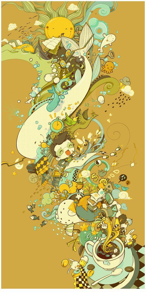 Coffee- magical   art   Pinterest