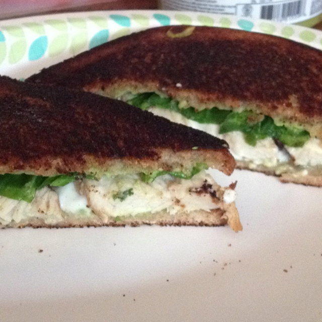 Chicken, spinach, avocado and mozzarella melt!
