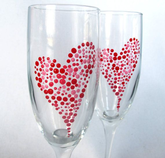 I Heart Valentines Day Decor Handpainted by TheRipeBanana on Etsy, $24.00