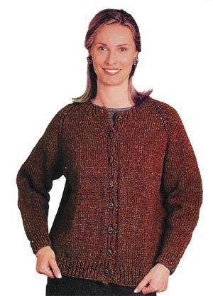 Womens Cardigan Knitting Pattern : Top-Down Cardigan Knitting Pinterest