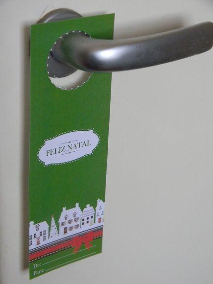 Aviso de Porta impresso em alta resolução, com temas variados de Natal  Personalizamos com o nome ou mensagem especifica.  Para decoração natalina e pode ser usado como marcador de página.  Pedido mínimo 30 unidades. R$ 1,00