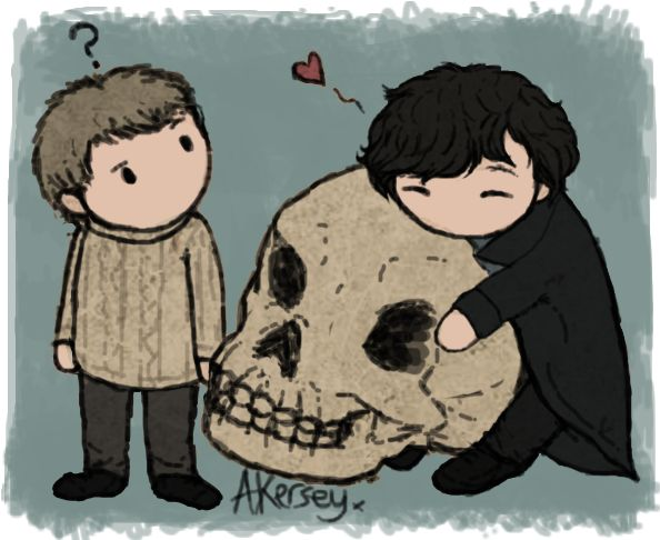 Mrs Hudson took his skull...