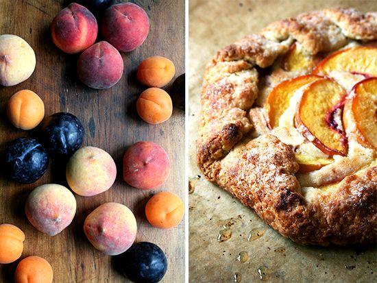 stone fruit; peach galette | My Sweet Shoppe | Pinterest