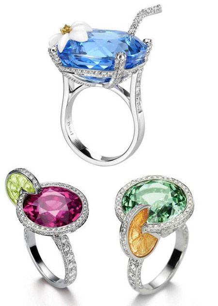 "ROFL! These are great! Literally ""cocktail rings""! By Piaget. Yeah, I thought they were just watches, too!"