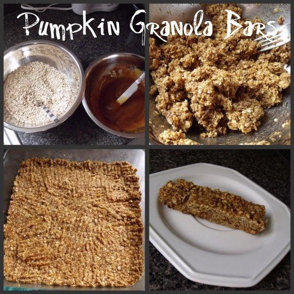 Pumpkin granola bars. These sound interesting. I probably will add in ...